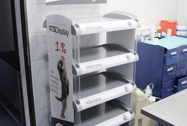 ATS Display's POS stands in animal shelter in Celestynów