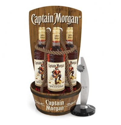 Captain's Morgan Counter Display